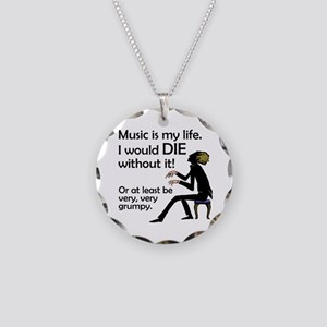 Music Is My Life Necklace Circle Charm