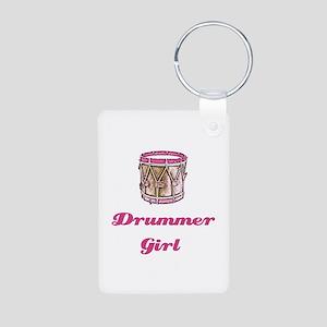 Drummer Girl Aluminum Photo Keychain