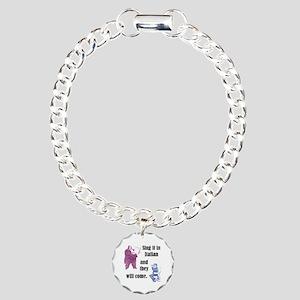 Sing Italian Charm Bracelet, One Charm