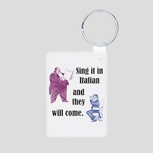 Sing Italian Aluminum Photo Keychain