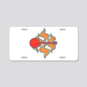Red Hot Banjo Aluminum License Plate