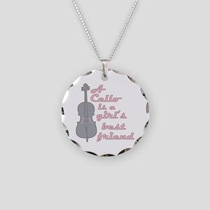 I Love My Viola Necklace Circle Charm