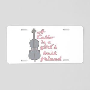 I Love My Viola Aluminum License Plate