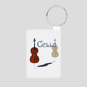 Cello Aluminum Photo Keychain