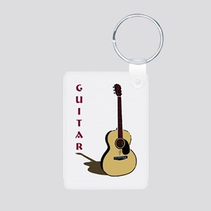 Guitar Aluminum Photo Keychain