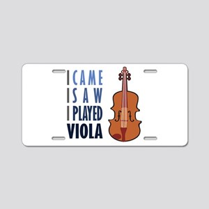 I Play Viola Aluminum License Plate