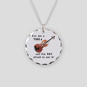 I've Got a Viola Necklace Circle Charm