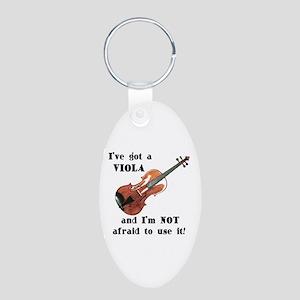 I've Got a Viola Aluminum Oval Keychain