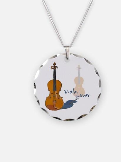 Viola Necklace Circle Charm
