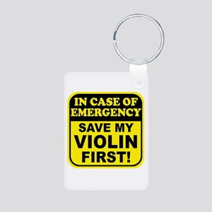 Save My Violin Aluminum Photo Keychain