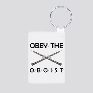 Obey the Oboist Aluminum Photo Keychain