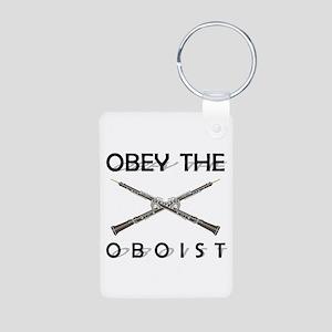 Obey the Oboist Aluminum Photo Keychain