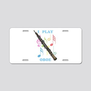 I Play Oboe Aluminum License Plate