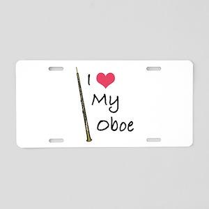 I Love My Oboe Aluminum License Plate