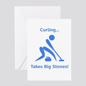 Curling Takes Big Stones! Greeting Card
