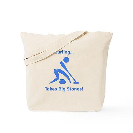 Curling Takes Big Stones! Tote Bag