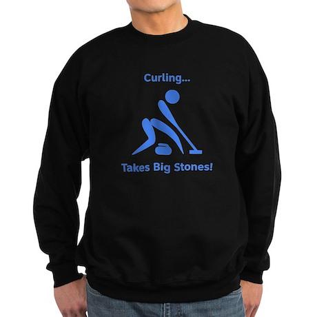 Curling Takes Big Stones! Sweatshirt (dark)