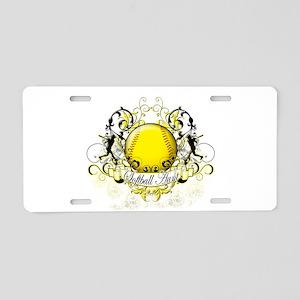 Softball Aunt Aluminum License Plate