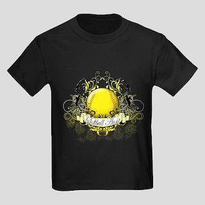 Softball Aunt Kids Dark T-Shirt