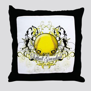 Softball Grandma Throw Pillow