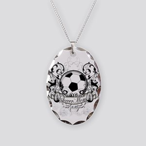 Soccer Mom Necklace Oval Charm