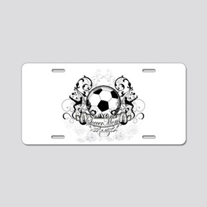 Soccer Mom Aluminum License Plate