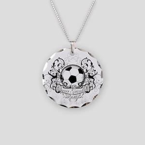 Soccer Grandma Necklace Circle Charm