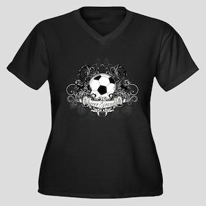 Soccer Grandma Women's Plus Size V-Neck Dark T-Shi