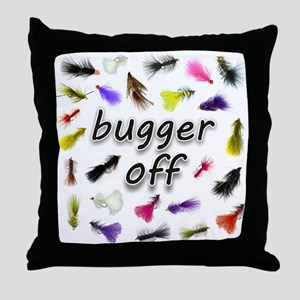 Bugger Off Throw Pillow