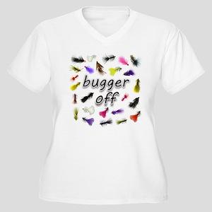 Bugger Off Women's Plus Size V-Neck T-Shirt