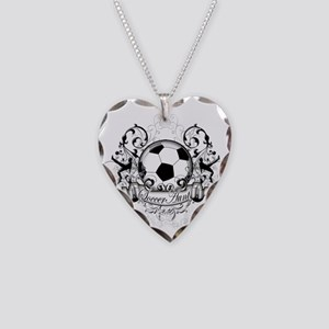 Soccer Aunt Necklace Heart Charm
