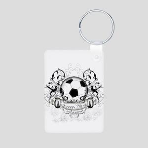 Soccer Aunt Aluminum Photo Keychain