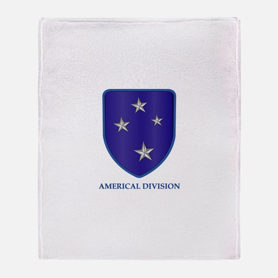 Americal Division Throw Blanket