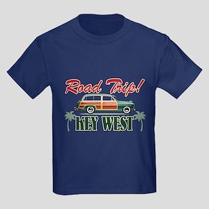 Road Trip! - Key West Kids Dark T-Shirt