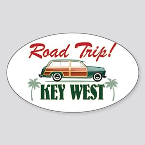 Road Trip! - Key West Sticker (Oval)