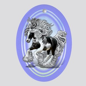 Gypsy Vanner Ornament (Oval)