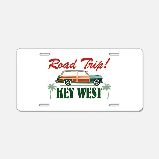 Road Trip - Key West Aluminum License Plate