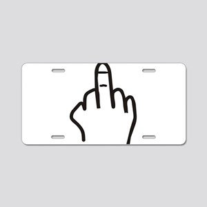Give the finger Aluminum License Plate