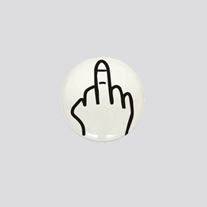 Give the finger Mini Button