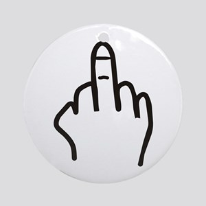 Give the finger Ornament (Round)