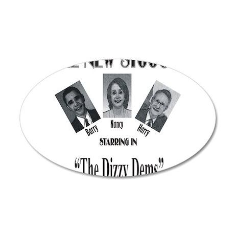 New Stooges: Dizzy Dems 38.5 x 24.5 Oval Wall Peel