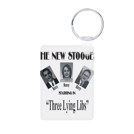New Stooges: Lying Libs Aluminum Photo Keychain
