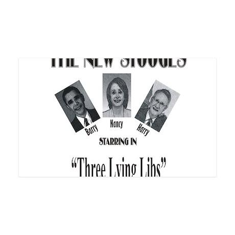 New Stooges: Lying Libs 38.5 x 24.5 Wall Peel