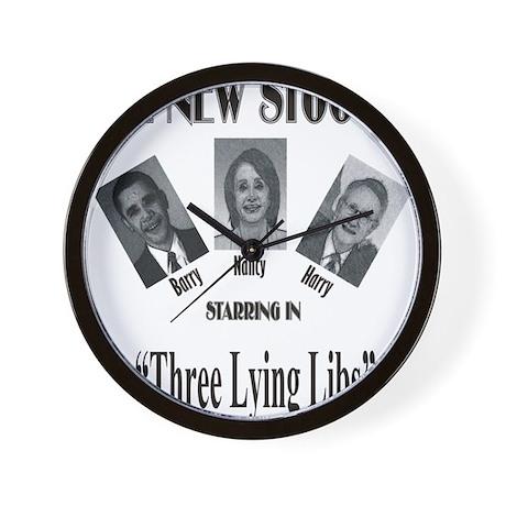 New Stooges: Lying Libs Wall Clock