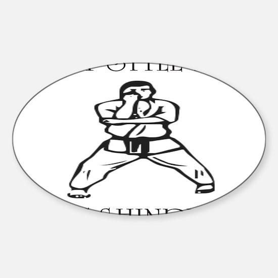 Cute Isshinryu karate Sticker (Oval)