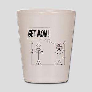 Get Mom! Throwing Star Shot Glass