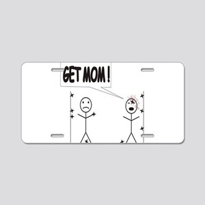 Get Mom! Throwing Star Aluminum License Plate