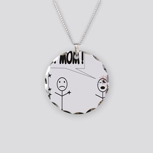 Get Mom! Throwing Star Necklace Circle Charm