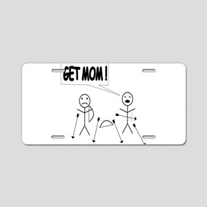 Get Mom! Bow and Arrow Aluminum License Plate
