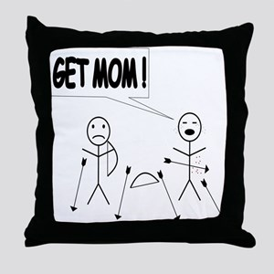 Get Mom! Bow and Arrow Throw Pillow